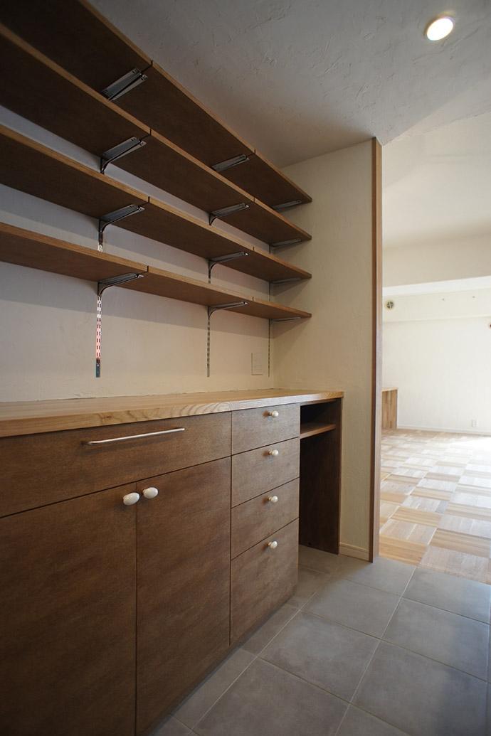 杉並区A邸~JELLY~の部屋 キッチン・カップボード造作家具