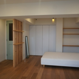 台東区C邸~R:H~ (リビング続きのベッドルーム)
