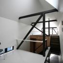 リビングのデザイン・いろいろなあり方の写真 幅3mの家 スキップフロアのLD