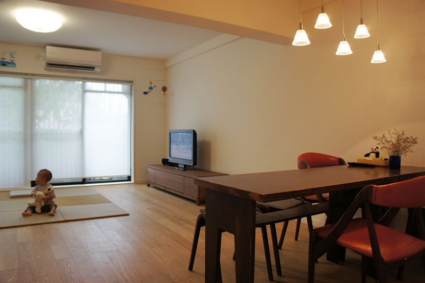 世田谷区T邸~TSUNAGU~の部屋 リビング