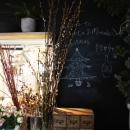 キッチン窓・黒板塗装
