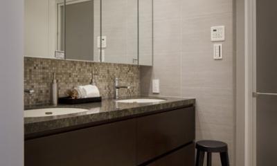 洗面室|生活感を見せない、ホテルライクな暮らし