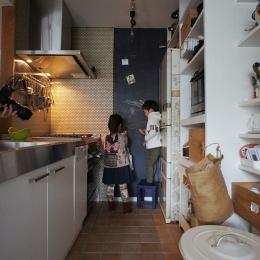 横浜市F邸~Colmena~ (キッチン・黒板塗装)