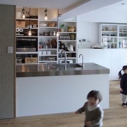 横浜市F邸~Colmena~ (施工後当初 キッチン・ダイニング)