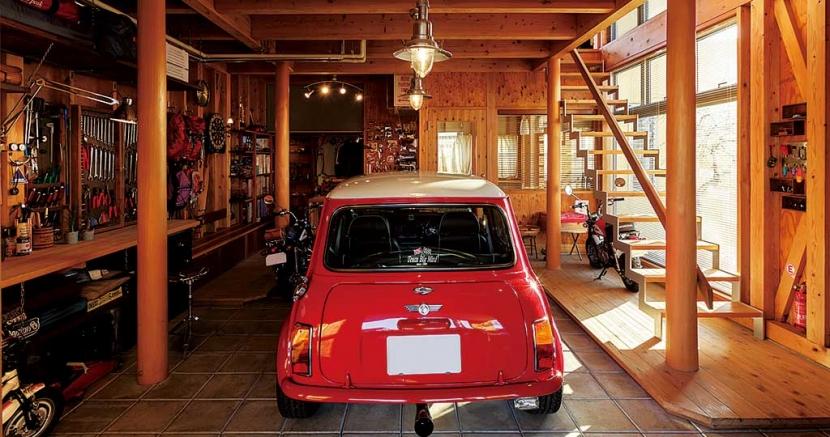 徹底的に生成りのビルトインガレージハウス/Imさんの家の部屋 ビルトインガレージ