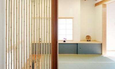 コンパクトハウス/Saさんの家 (仕切れてもオープンな畳の空間)