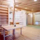 コンパクトハウス/Saさんの家の写真 建具の計画で機能も心もフレキシブルなリビング