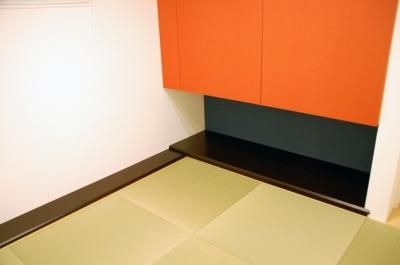 趣味のモダン和室 (ハーフコートハウス/Okiさんの家)