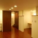 ハーフコートハウス/Okiさんの家の写真 単身者にとっての機能を収めたプライベートフロアー