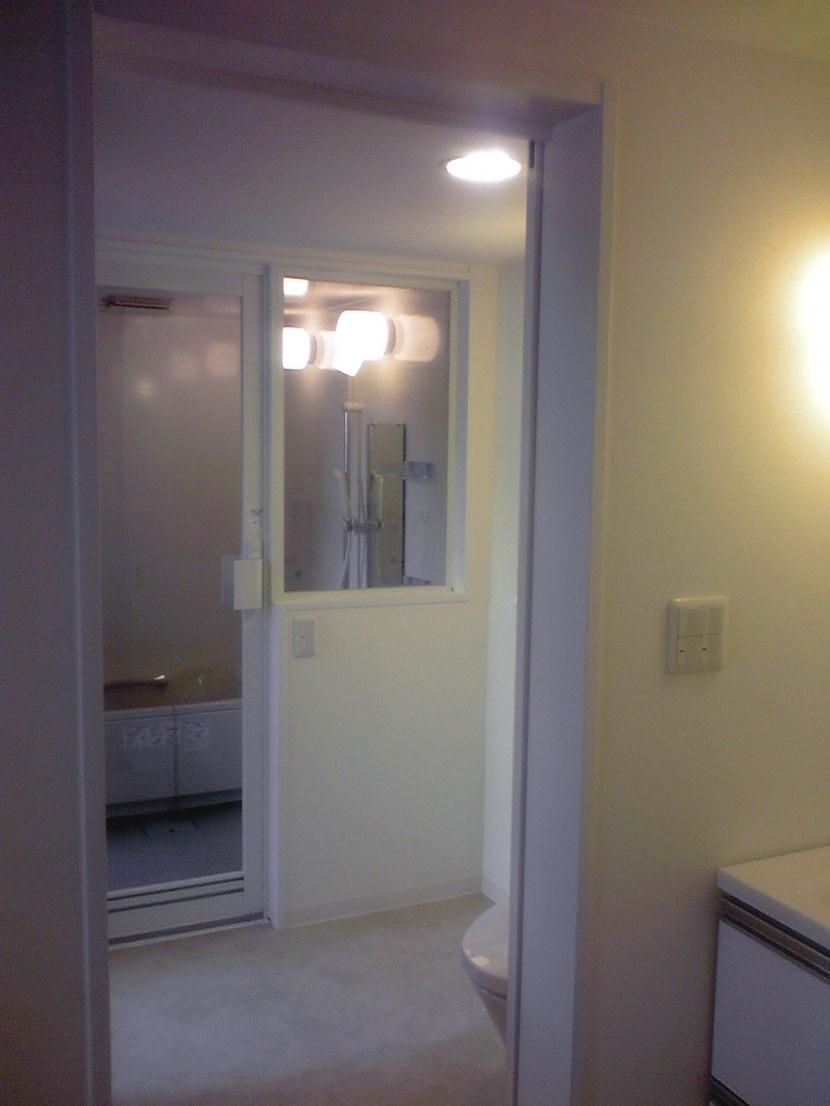 バス/トイレ事例:ワンルームマンションの様にプライベートフロアー(ハーフコートハウス/Okiさんの家)