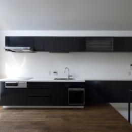 オウチ01・狭小二世帯住宅 (子世帯キッチン)