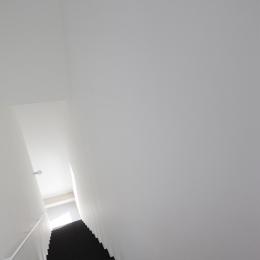 オウチ25・インナーバルコニーの家 (ミニマルな階段デザイン)