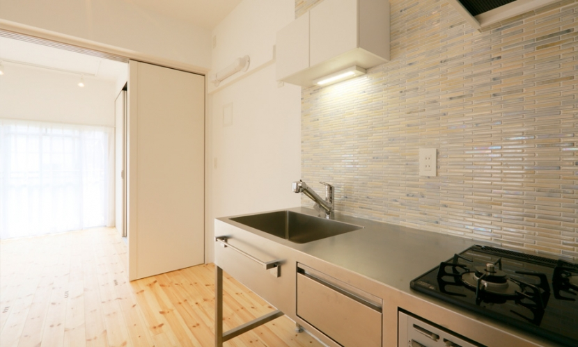 主人公のアパートの部屋 キッチン