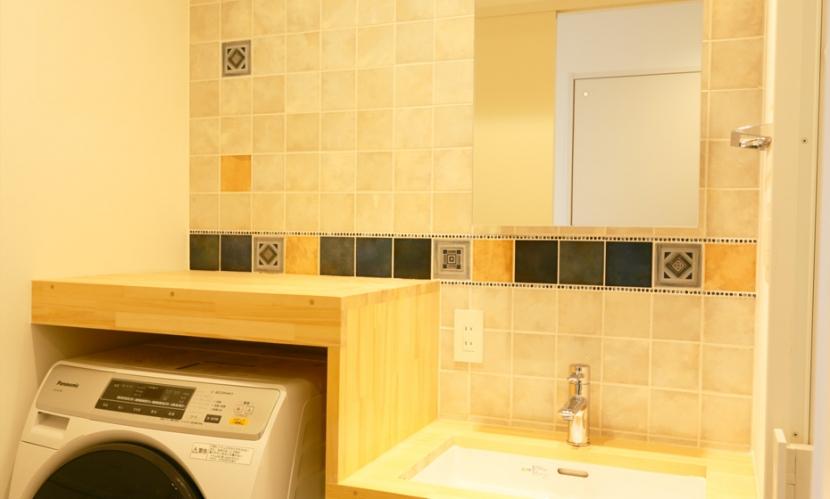 主人公のアパートの部屋 洗面所