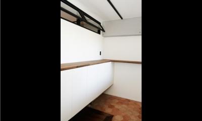 玄関収納 (お気に入りCafeに住む)