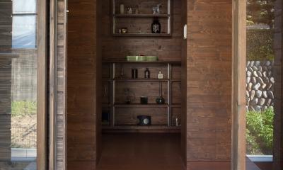 都幾川縁りのハイブリッド・ハウス/Onさんの家 (玄関)