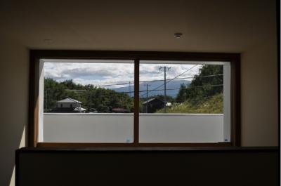Sハウス (玄関ホール窓)