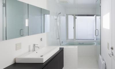 インナーバルコニーのある家 OUCHI-25 (浴室)