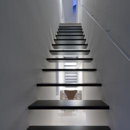 インナーバルコニーのある家 OUCHI-25 (ミニマルな階段)