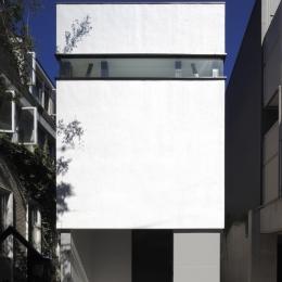 ハコノオウチ01・版画アトリエのある家 (ハコ型の外観)
