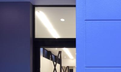 ハコノオウチ01・版画アトリエのある家 (アトリエ入り口)