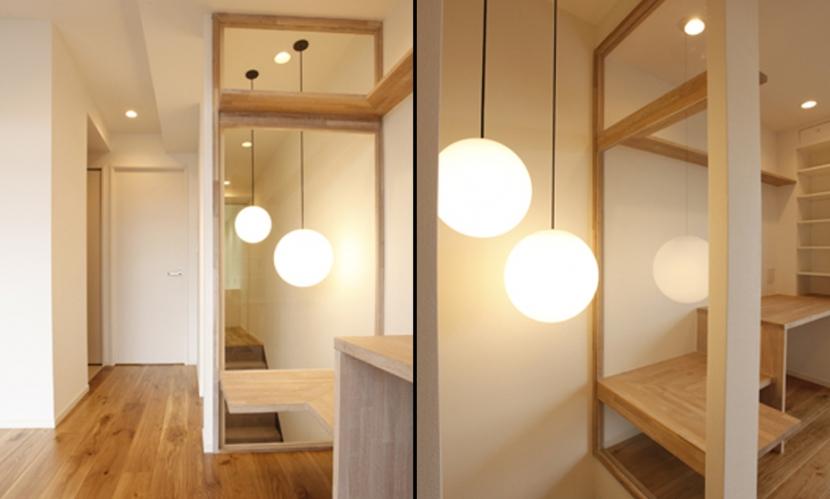 木と暮らすの部屋 階段照明