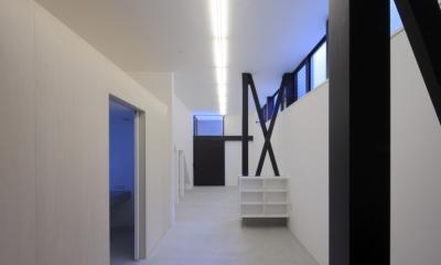 ハコノオウチ01・版画アトリエのある家 (版画アトリエ・夜景)