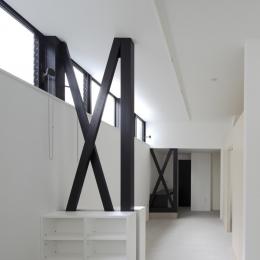 1階の版画アトリエ (ハコノオウチ01・版画アトリエのある家)