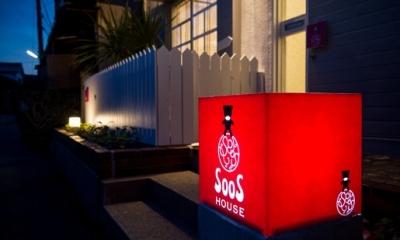SooS house (夜は行灯でお出迎え)