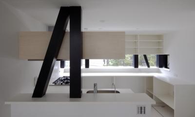 ハコノオウチ01・版画アトリエのある家 (キッチン吊戸)