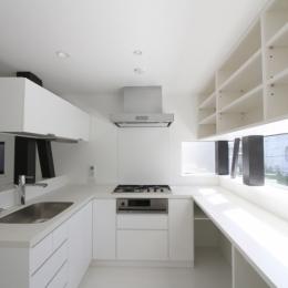 ハコノオウチ01・版画アトリエのある家 (コ型キッチン)