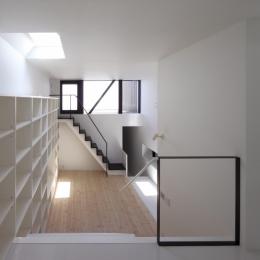 ハコノオウチ01・版画アトリエのある家 (ダイニングから見る)