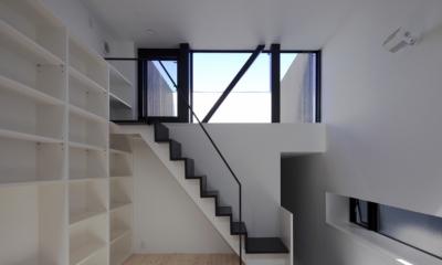 ハコノオウチ01・版画アトリエのある家 (ルーフバルコニーへ)