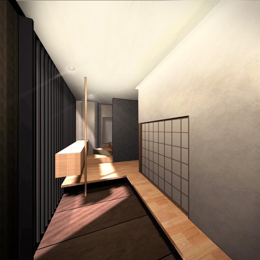 平野区のリノベーションの部屋 玄関