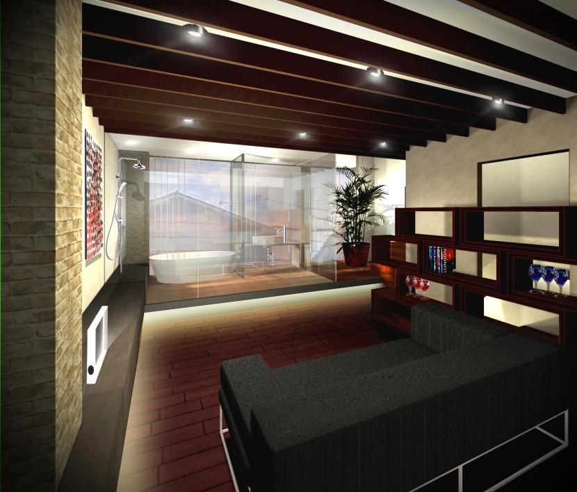 平野区のリノベーションの部屋 シアタールーム