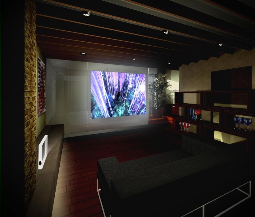 平野区のリノベーションの写真 シアタールーム