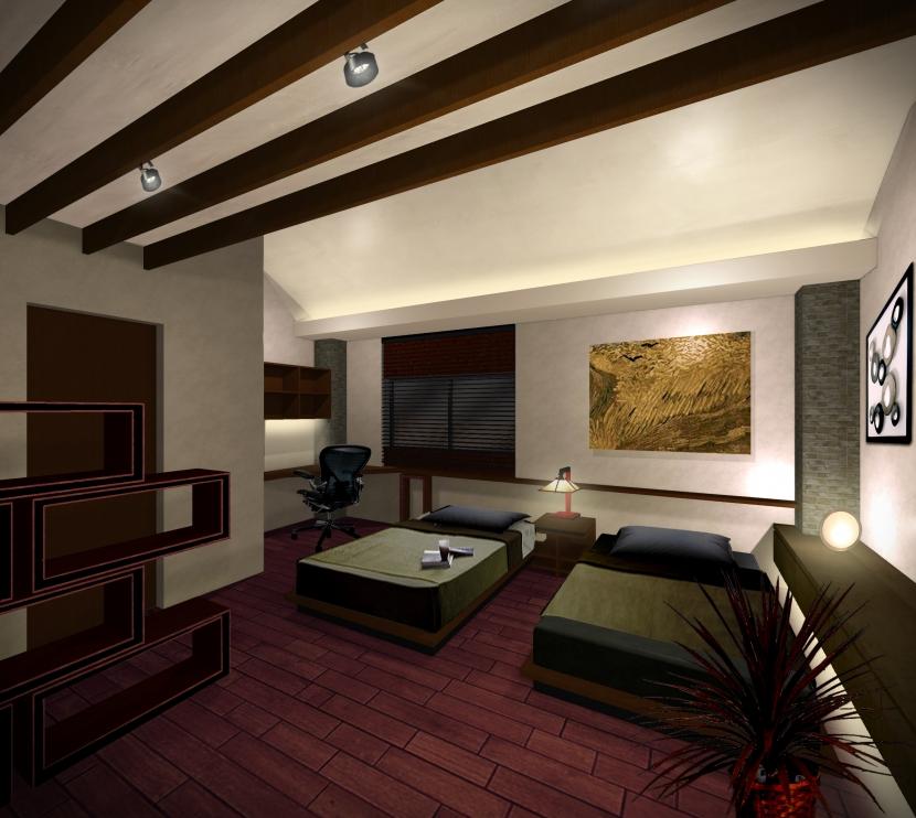 平野区のリノベーションの部屋 寝室