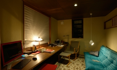 和に合う、ミッドセンチュリー家具との住空間 (家具や長く愛用してきたものと過ごす、書斎空間)