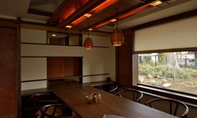 和に合う、ミッドセンチュリー家具との住空間 (ダイニング)