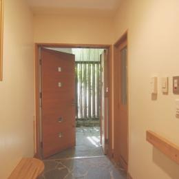 都市型住宅-自然を取り込む (玄関)