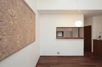 木造耐火構造の町屋~狭小地3階建ての住まい~ (食堂)