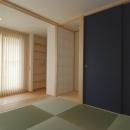 2世帯の程よい距離の写真 腰掛け式台のある和室