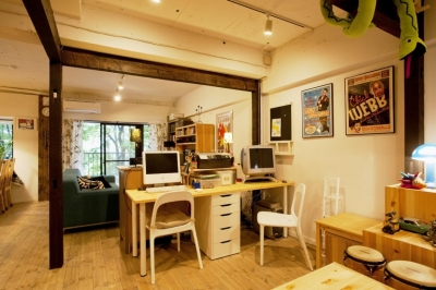 書斎スペース (N邸・大人も子どもも元気にワクワク遊ぶ家)