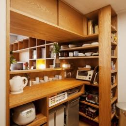 kg邸・旅の思い出を飾る壁面収納 (キッチン)