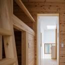 木造耐火でつくる木の住まいの写真 子供室より階段を見る