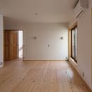 木造耐火でつくる木の住まいの写真 壁天井和紙張りの寝室