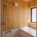 木造耐火でつくる木の住まいの写真 ハーフユニットバスを使用した浴室