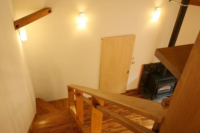 軽井沢 浅間山の家の写真 階段