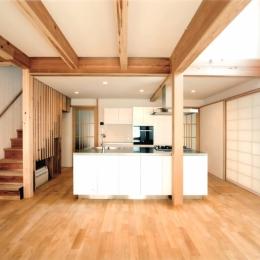 夏涼しく、冬暖かい環境共生住宅 (キッチン)