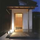 青森ヒバ引戸のある玄関